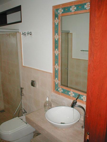 Banheiros  Limestone Ladrílho Hidráulico -> Banheiro Decorado Ladrilho Hidraulico